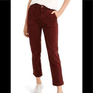 maroon madewell pants